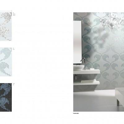 Pastilhas de vidro com painéis personalisados