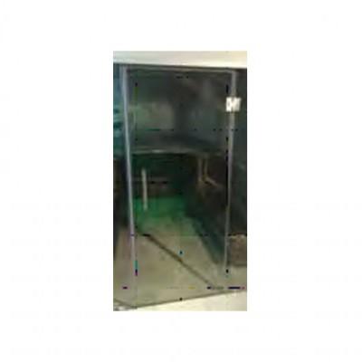 Porta em vidro s/ moldura e c/ dobradiças e puxadores incluídos