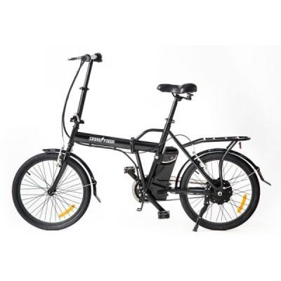 "SKATEFLASH Bicicleta Elétrica Preta 20"""