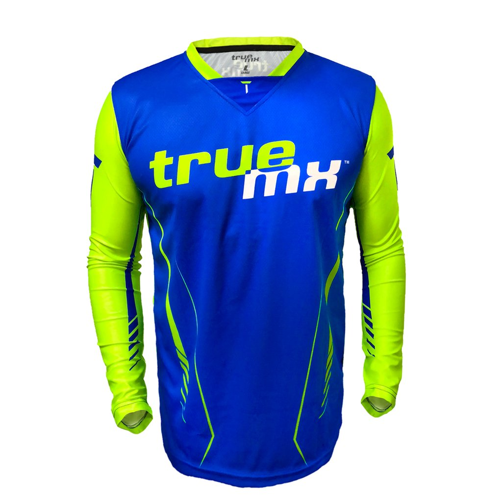 Camisola TrueMX Transfer Azul/Fluo