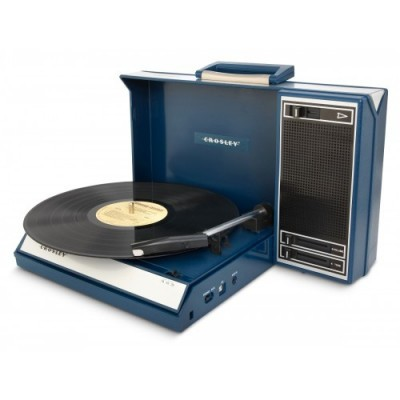 Gira-discos Portátil Crosley Spinnerette Azul
